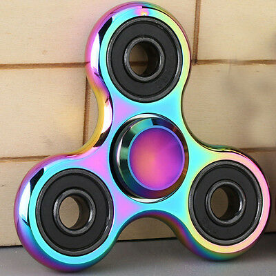 Rainbow-Durable Stainless Steel Fidget Spinner Toys Metal Material Hand Spinner