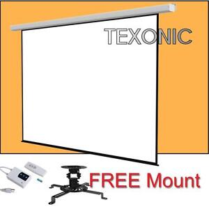 """Projector Screen Electric and Projector Ceiling Mount 100"""" $169.99 + FREE Mount"""