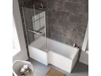 Bath Shower Screen for L Shaped Bath