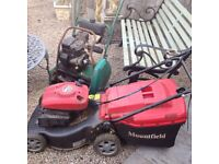 LAWNMOWERS X TWO UNTESTED SPARES OR REPAIR £30