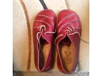 Red or dead size 7 (41) red women's shoes never worn