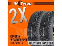 2x 185/60r14 Technic Weather Speed 185 60 14 Banger Racing Autograss x2 Tyres