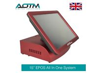 """15"""" EPOS POS All In One Touch System Computer (E101R) Red"""