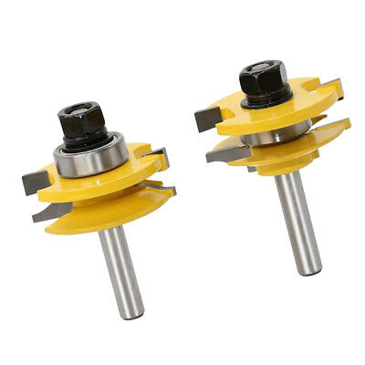 Rail Stile Router Bits -matched 2 Bits Round-over 8mm Shank Chisel Cutter