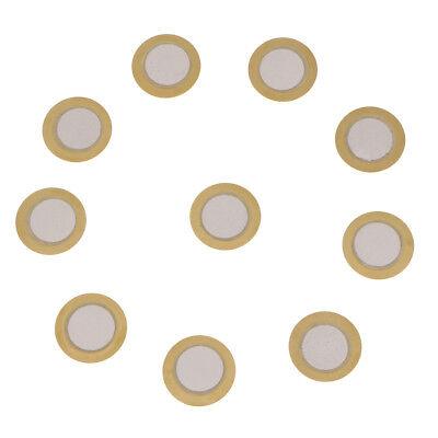 15mm Transducer Piezoelectric Ceramic Sounder Element Buzzer Disc Copper