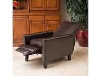 Matching Pair Leather Recliner Armchairs