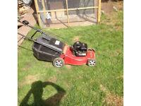 petrol lawn mower spares and repairs throttle broke
