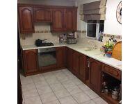 12 Kitchen units with integral fridge freezer, gas hob hotpoint