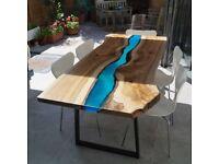Beautiful large resin table
