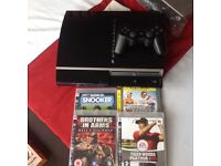 PS3 console, controller & games