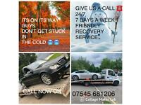 24/7 recovery and car collection service
