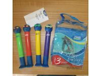 ZOGGS ZOGGY dive sticks seal sealion original packet diving swimming pool stage 3 rings underwater