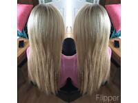 Micro loop hair extensions.