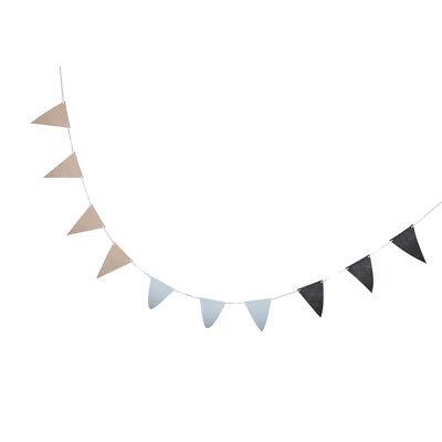 Stoff Dreieck Wimpel Banner Hochzeit hängen Dekor grau gelb und blau