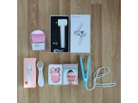 5x Skincare Beauty Tools - Microcurrent, Silicone Face Brush, Blackhead Remover, Face Massager