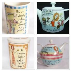 Born to shop items tea pot x2 cookie jar and utensils