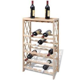 Wine Rack for 25 Bottles Solid Fir Wood-241068