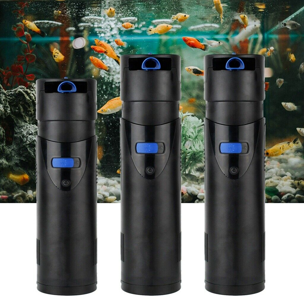 4 in 1 Aquariumfilter 700 L/h 10 W 5/7/9 W UVC Klärer Filtermaterial CUP-Filter