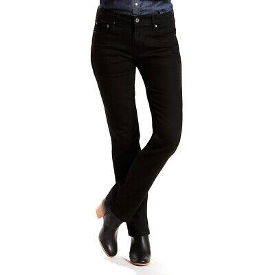 "Straight Leg Stretch Shorts - Levi's 505 Straight Leg Women's Black Jeans Size 16 Short Stretch Waist 37"""