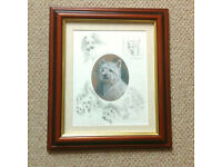 'Westie' West Highland Terrier by Mick Cawston, Limited Edition Framed Print (Christmas present?)