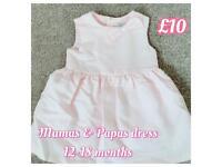 Girls baby designer clothes 12-18 m