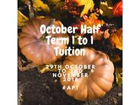 HALF TERM TUITION FOR AGES 4 TO 12 - HALLOWEEN 2018