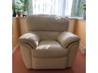 Beautiful single seater sofa with footrest