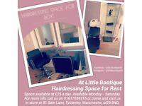 **!!** HAIRDRESSING SPACE AVAILABLE FOR RENT **!!** •£25 a day each chair•
