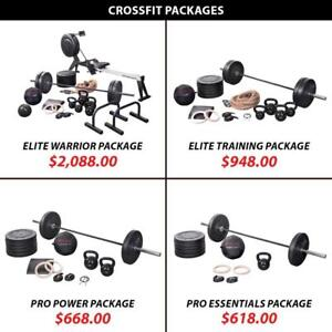 Rower Package Set Training Bundle Crossfit Weightlifting Powerlifting Weight Kettlebell Barbell Olympic Plate Rings