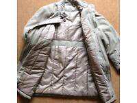 Beige Poiyester Ladies Coat size 14