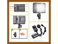Neewar LED Video light, filters with rechargeable battery pack