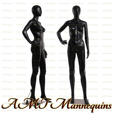 Female Display Mannequin Full Bodymetal Stand Black Dress Form Manikin-fc-11b