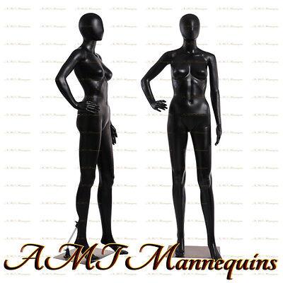 Female Display Mannequin Full Body Metal Stand Black Used Manikin -fc-11u1wig