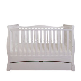 Stunning White 3 in 1 Sleigh Cot Bed/Junior Bed/Sofa Bed in box with mattress