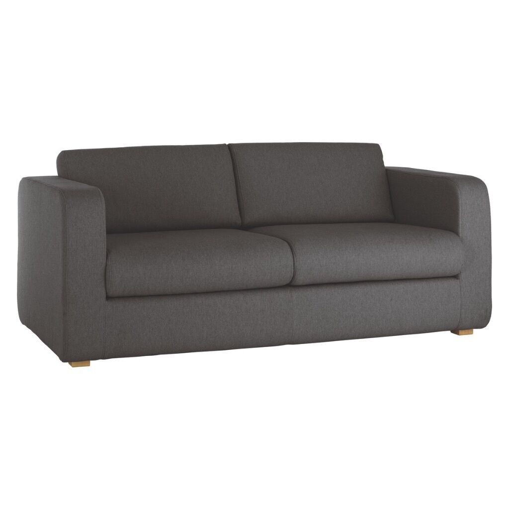 Habitat porto charcoal fabric 3 seater sofa bed in for Sofa bed 3 seater uk