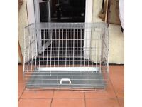 Large Dog cage with sloping front for sale good condition L90 cm D53cm H65cm