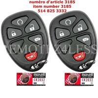 1 New Replacement Keyless Entry Remote Key Fob for 15114375 + 1