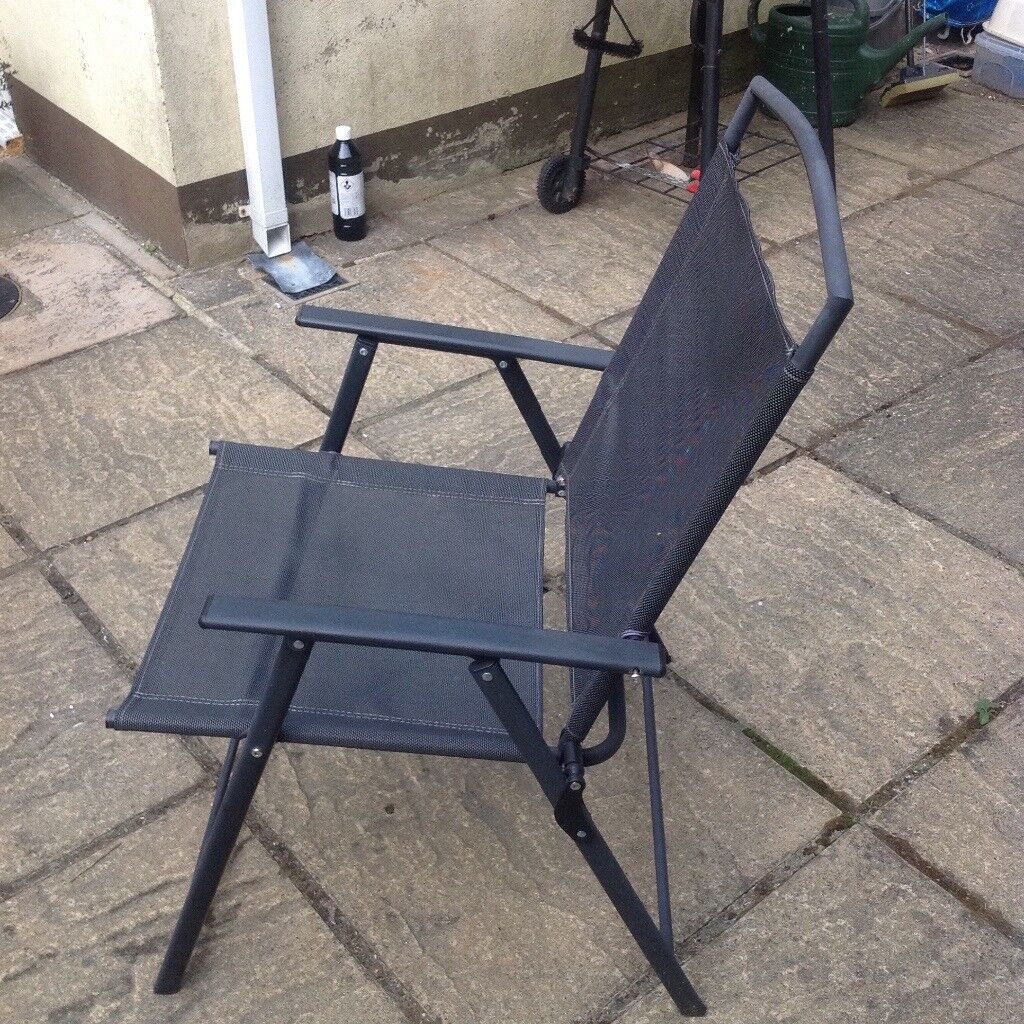 Glazed black table and 4 chairs