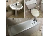Three piece luxury bathroom suite