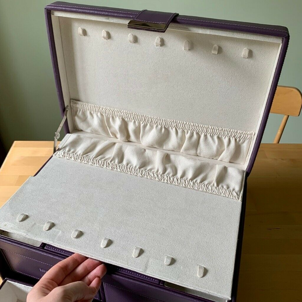 John Lewis Purple Leather Jewellery Box With Travel Size 100 Ono Rrp 150 In Filton Bristol Gumtree