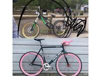 STOLEN! Dolan pre cursa and Canyon Torquezone. Fixie singlespeed track bike dh mountain bike