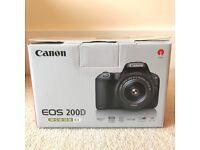 Canon 200d+lenses BRAND NEW