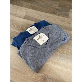 2 male Holister Jumpers - medium - perfect condition.