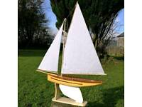 Vintage Pond Yacht - Model Sailing Boat. Perfect Christmas gift!