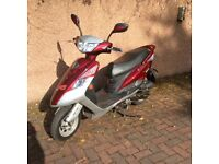 New but never registered. Pegasus 50 QT 50cc scooter. Sold as spares or repair.