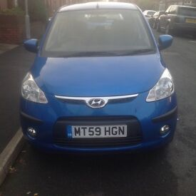 Hyundai I10 1.2 Comfort 5 dr. 2 Owners from new, Very Low Mileage, MOT till June 17. Cheap Road Tax