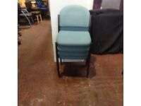 Fabric Stackable - Light Blue Chairs