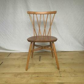Vintage Ercol 376 candlestick dining kitchen chair 1960s mid century