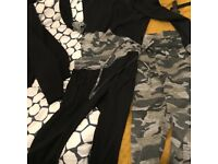 Camo tracksuit with two sets of tracksuit bottoms