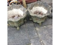 Willow stone garden pots with pot stands